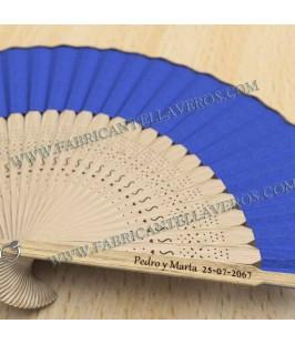 Abanicos Personalizados de Hojas de Bambú de Colores