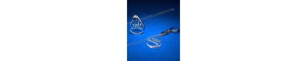 Llaveros transparentes| Tienda online de llaveros personalizados